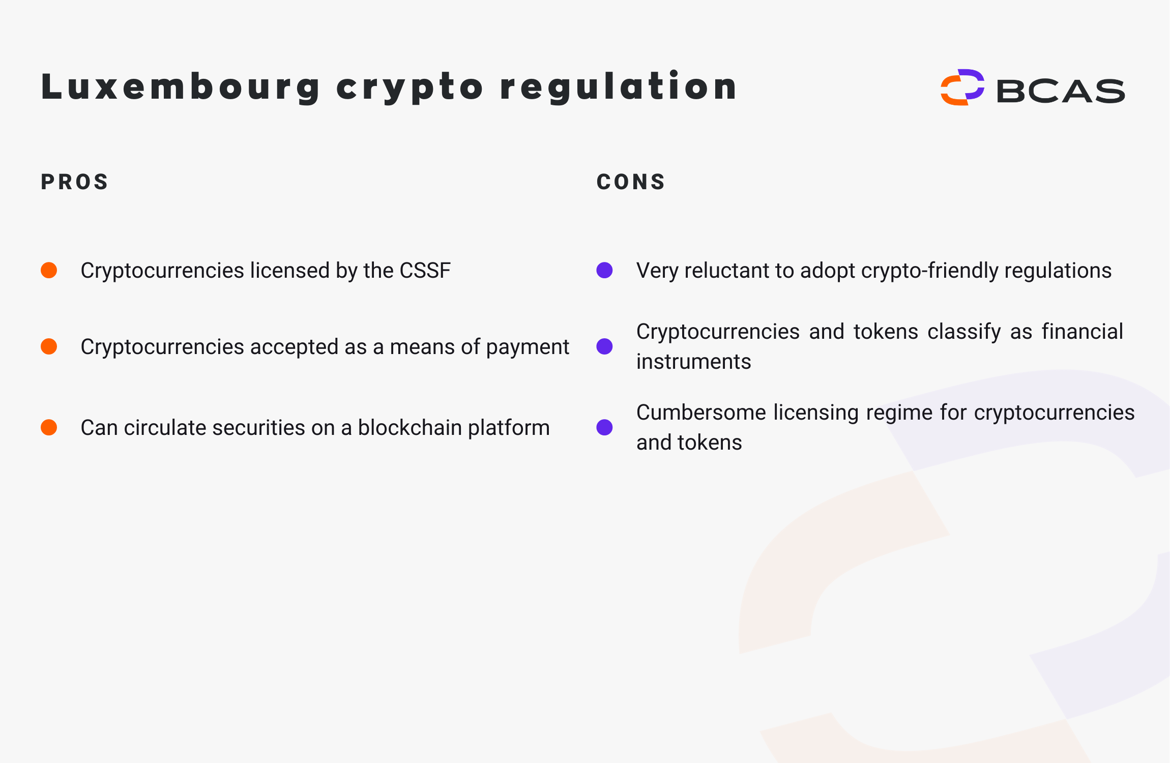 Luxembourg crypto regulation