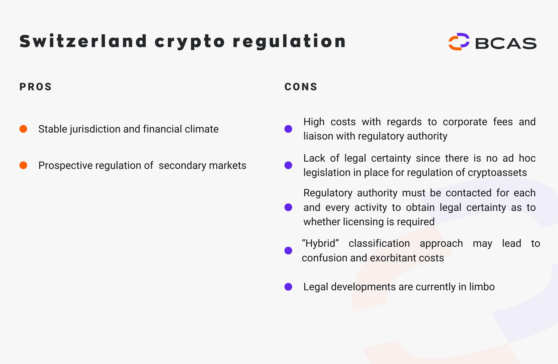Switzerland crypto regulation